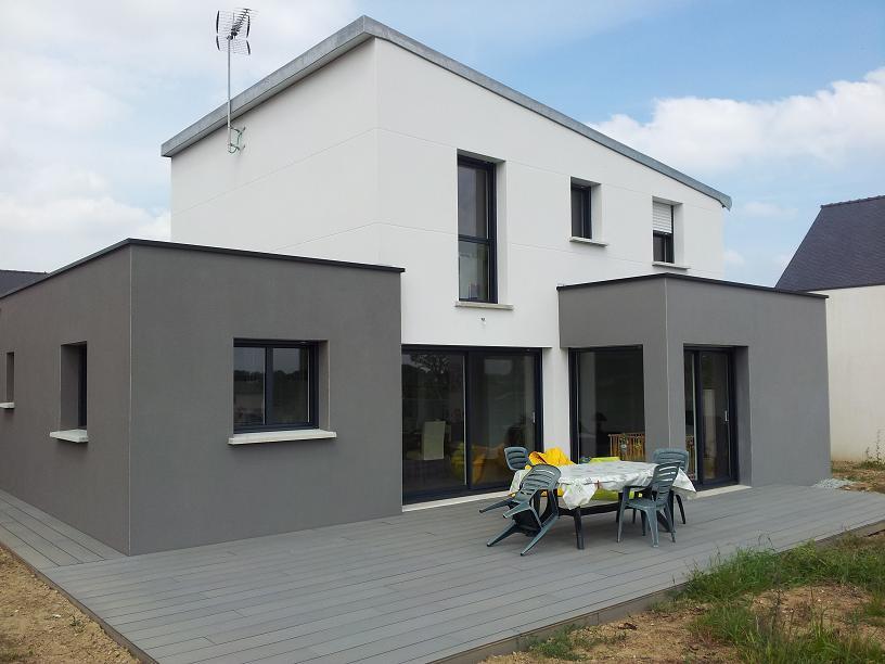 Maison toit zinc cool arteco maison monopente zinc with for Maison moderne zinc